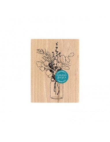 Sello de madera Bouquet d'Hiver -...