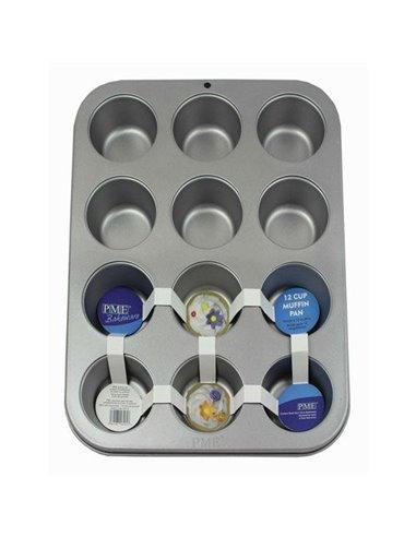 PME Molde Antiadherente para Muffins 12cav