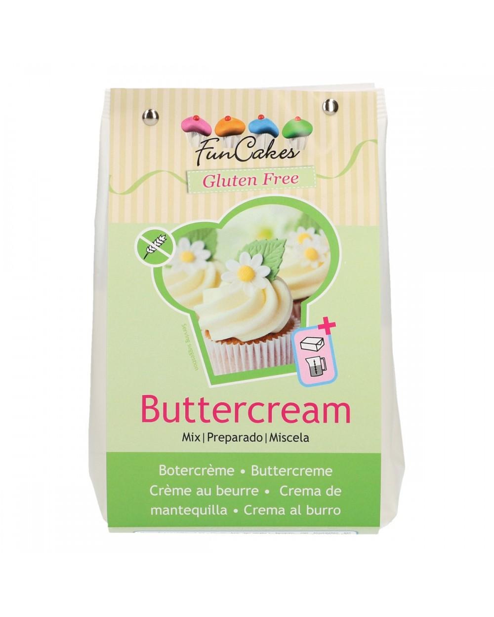 FunCakes Preparado para Crema de Mantequilla Sin Gluten 500g+
