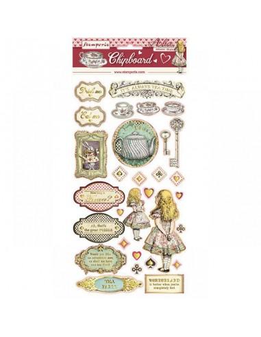 Chipboard cm. 15x30 - Alice Gold...