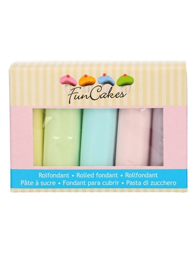 FunCakes Rolled Fondant Multipack Colores Pastel 5x100g