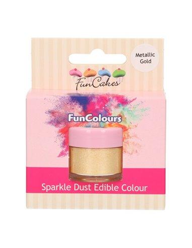 FunCakes Edible FunColours Sparkle Dust - Metallic Gold