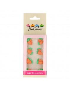FunCakes Set Decoraciones de Azúcar Zanahorias, 16u+