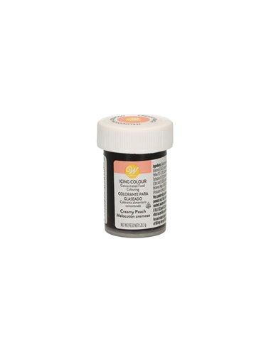 Wilton colorante pasta melocoton cremoso creamy peach 283 gramos