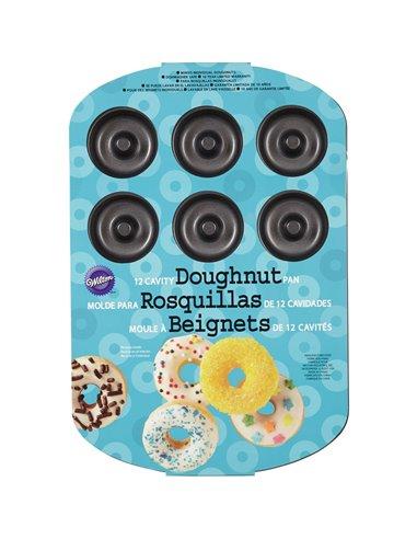 Wilton Molde Mediano para Donuts, 12 cavidades