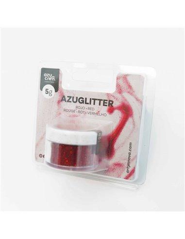 Azuglitter purpurina decorativa Roja No Tóxica 5gr