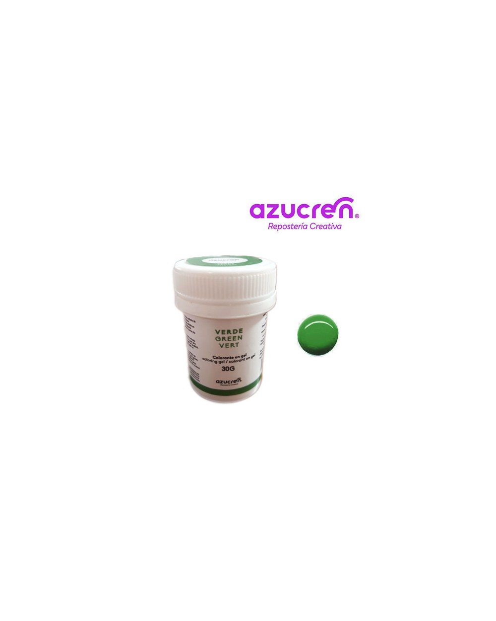 Azucren Colorante en Gel Verde+