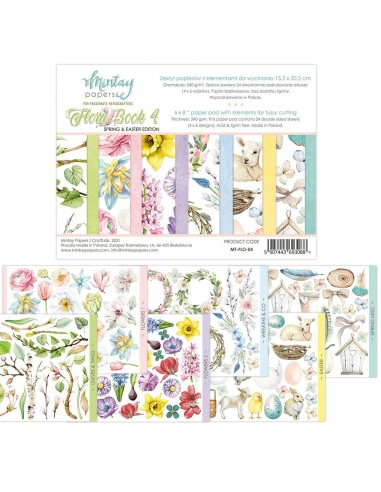 BLOC MINTAY BY KAROLA- Flora Book 4 6X8