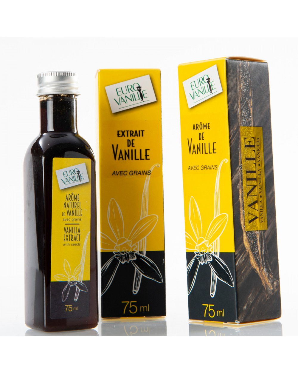 EV Extracto Natural de Vainilla Bourbon con Semillas, 75ml+