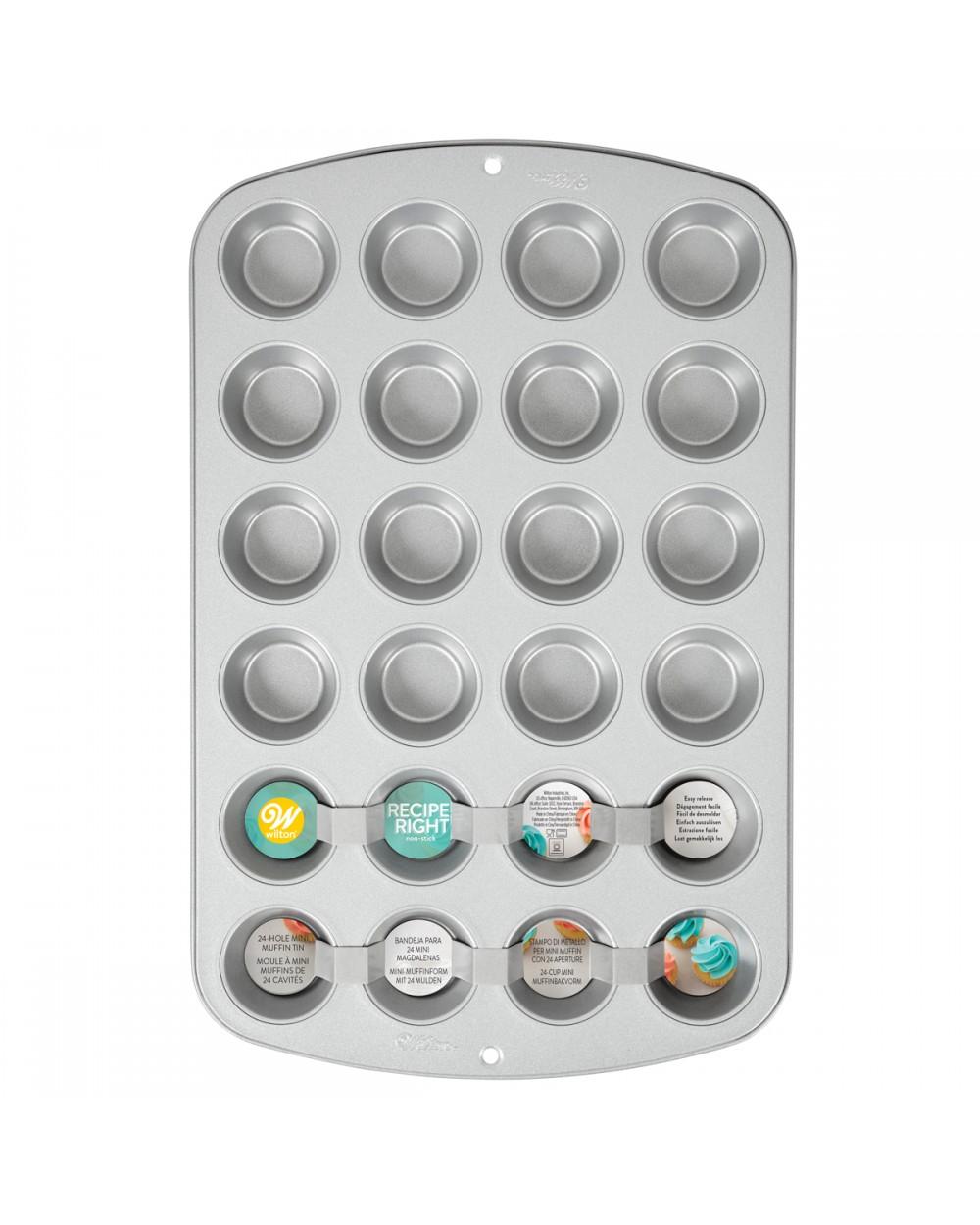 Wilton Recipe Right® Molde Mini Muffins, 24 cavidades+