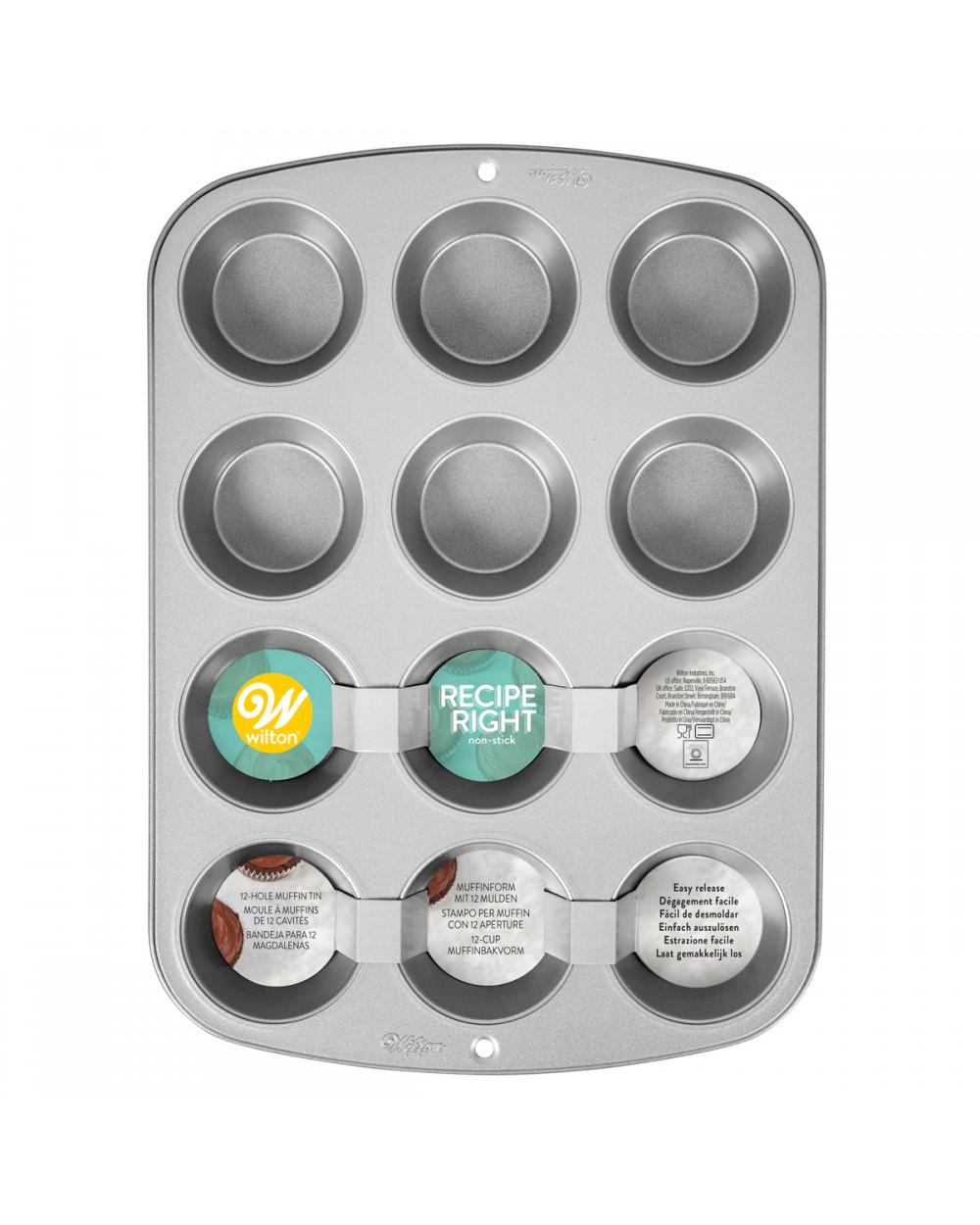 Wilton Recipe Right® Molde para Muffins, 12 cavidades+