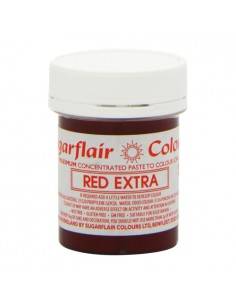 Sugarflair Colorante en Pasta RED EXTRA 42 gr+