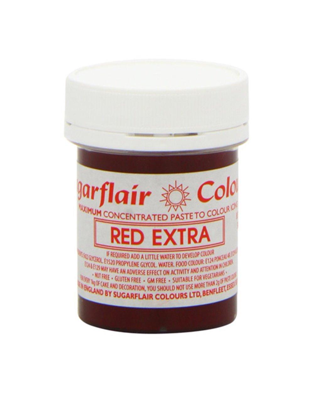 Sugarflair Colorante en Pasta RED EXTRA 42 gr+