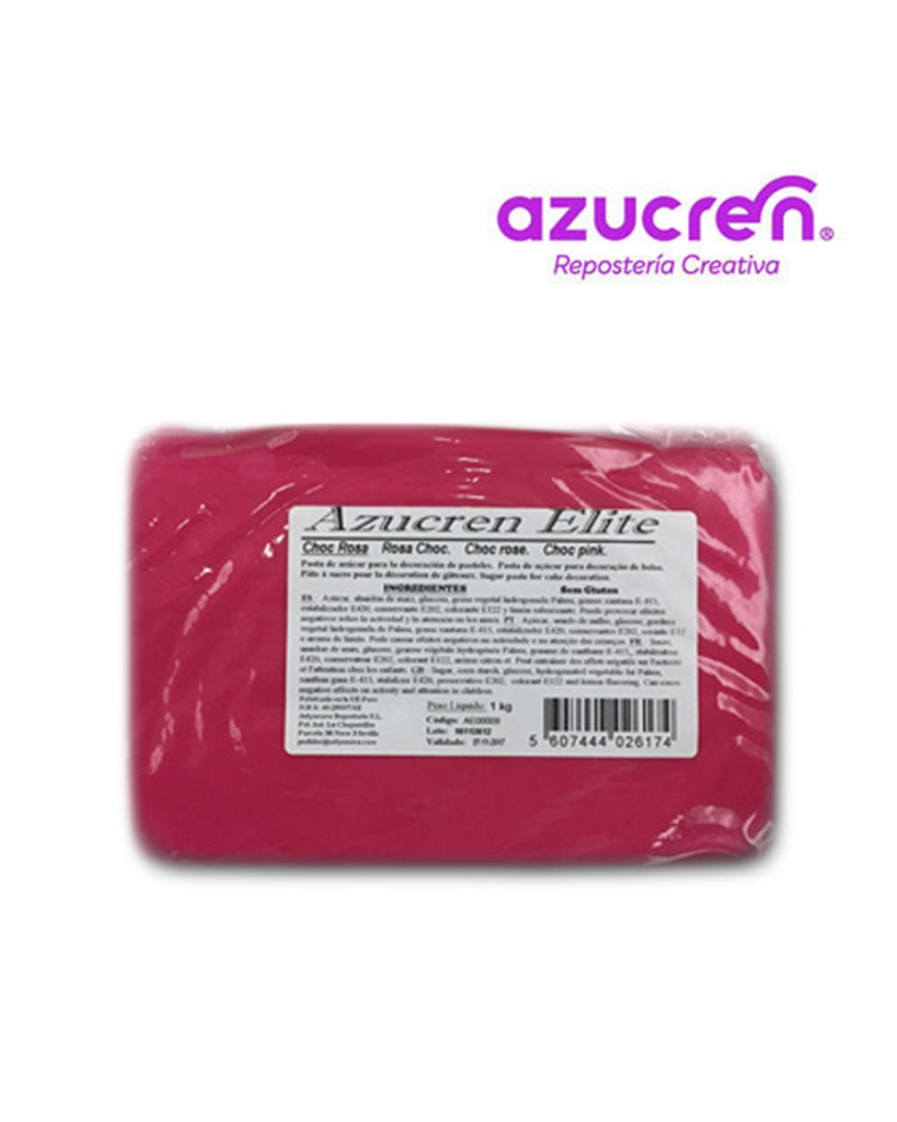 Azucren  Rosa Choc 1kg