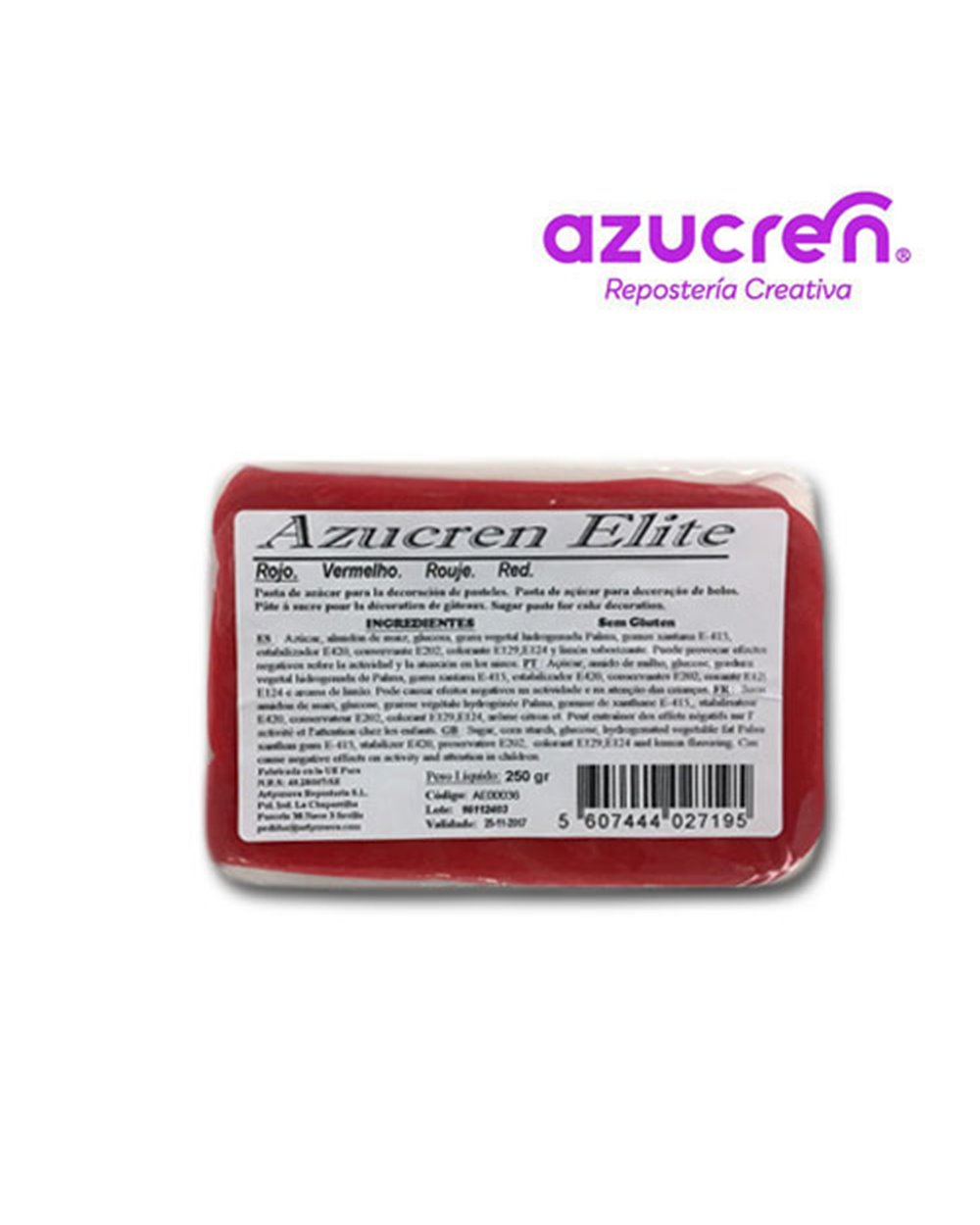 Azucren Rojo 250gr+