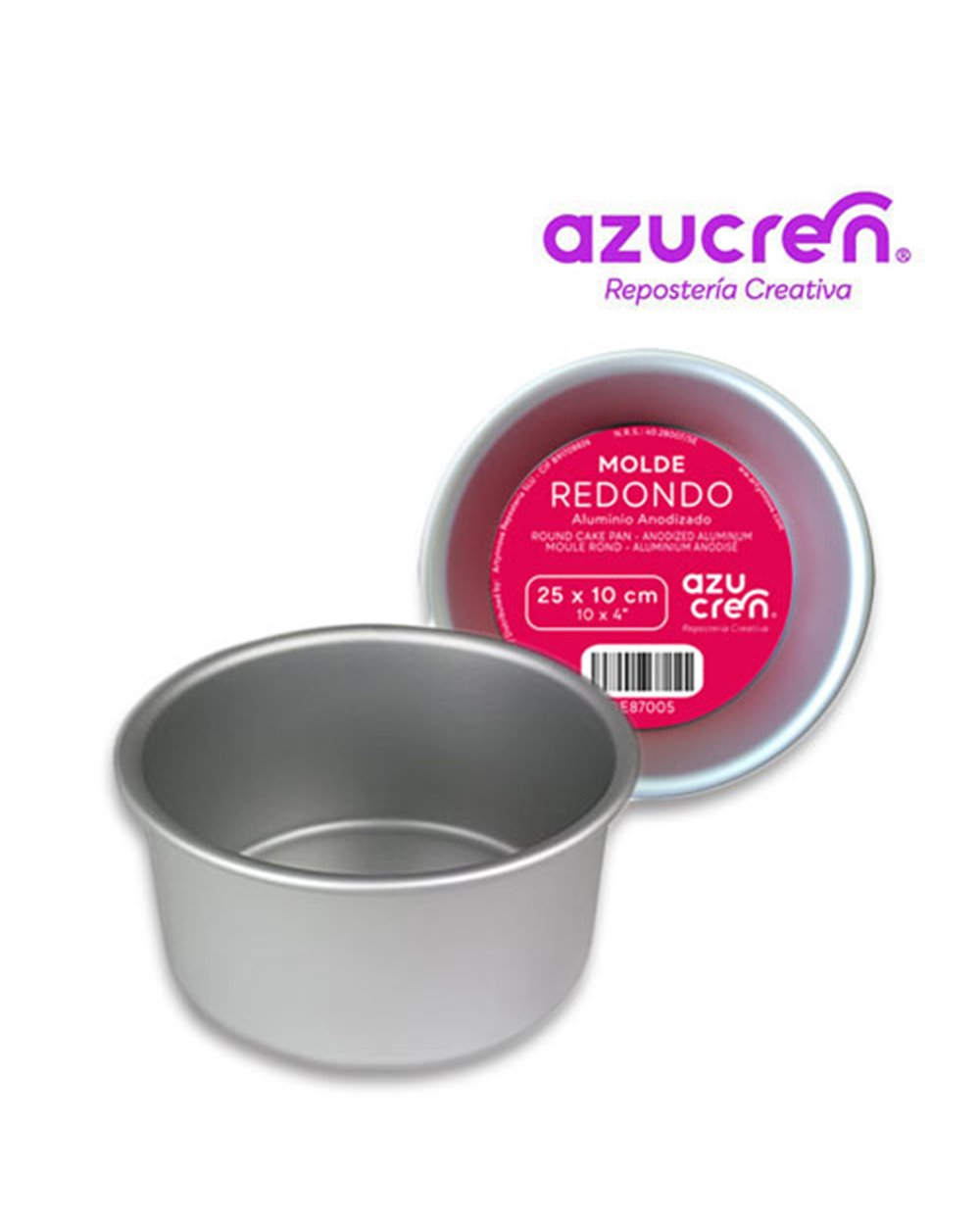 Azucren molde redondo 25x10cm+