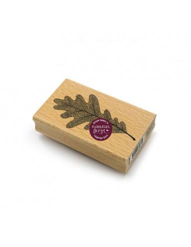Sello de madera Feuille de Chêne -...