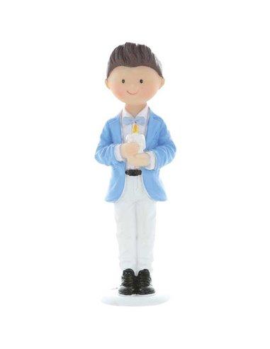 Figura Decorativa Comunión - Niño con Vela+
