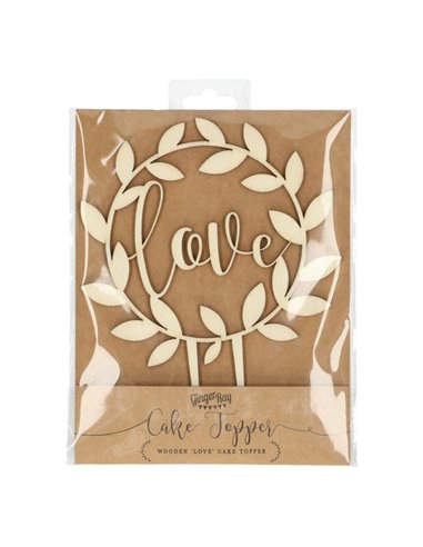 Ginger Ray Topper de Madera Love - Rustic Country