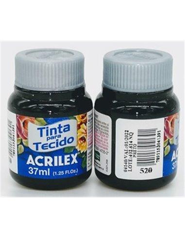 PINTURA TELA MATE ACRILEX Nº520 37ML. NEGRO