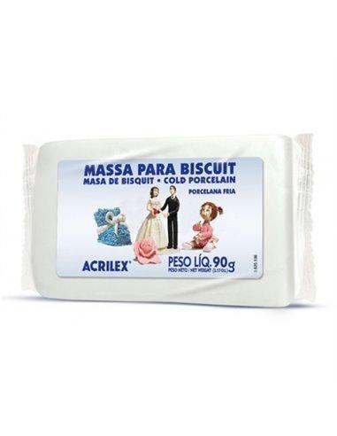MASA DE PORCELANA FRIA ACRILEX 90GR. Nº519 BLANCO