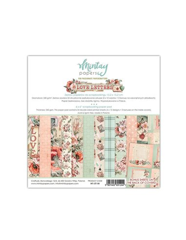 MT-LET-08 MINTAY BY KAROLA BLOC 6x6 Love Letters
