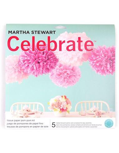 Martha Stewart pink pom-poms