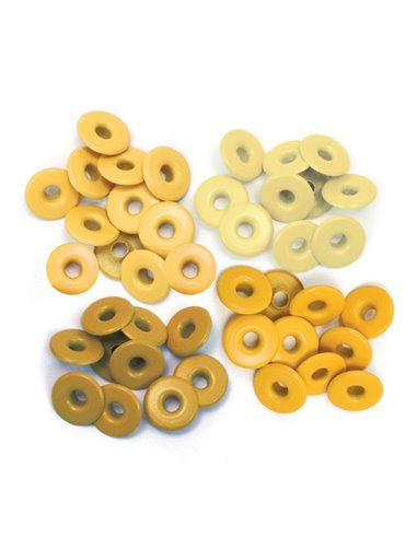 We R Memory Keepers • Wide eyelets x 40 Yellow