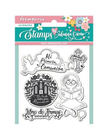 Acrylic stamp cm. 9,5x10,5 Libro de firma Ni?a