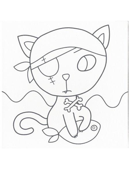 Graffy Paint,gato pirata 20x20 cm