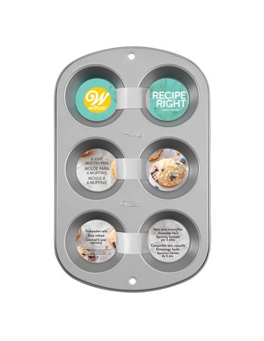 Wilton Recipe Right Molde Muffins   6 cavidades+