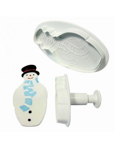 PME set cortador + expulsor muñeco de nieve 2pzs+