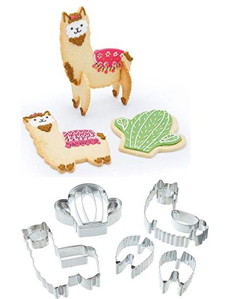 Kitchen Craft set cortadores de galleta llama en 3D 5pzs+