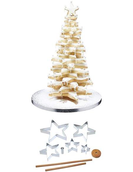 Kitchen Craft set cortadores estrella arbol de navidad 3D+