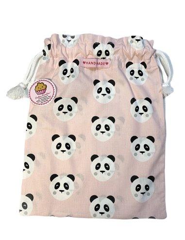 Bolsa desayuno pandas rosa