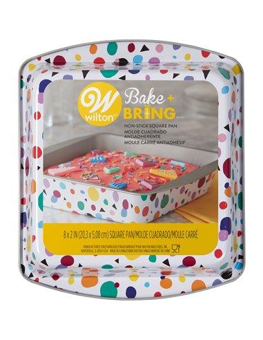 Wilton Bake & Bring Molde Tin Geo Cuadrado 20cm
