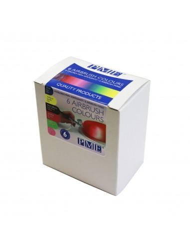 PME kit 6 colores aerógrafo - airbrush colours