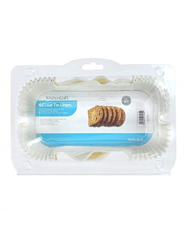 Kitchen Craft Pack de 40 moldes papel rectangulares 2LB*DESCATALOGADO*