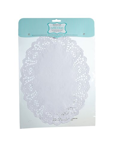 Sweetly Does It Oval Paper Doilies  35 x 25cm  Pack de 12  Bagged with Header Card