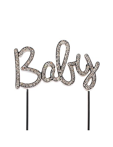 Cake Star Cake Topper Diamante Baby
