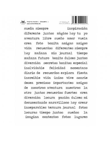 PALABRAS CASTELLANO F.BLANCO STICKERS