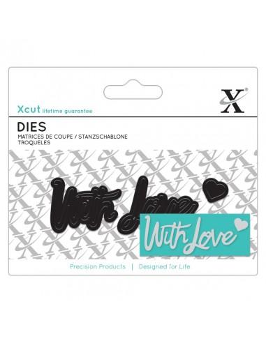MINI SENTIMENT DIE (3PCS) - WITH LOVE