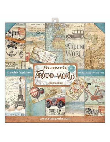 SET PAPELES 30,5x30,5  Around the world
