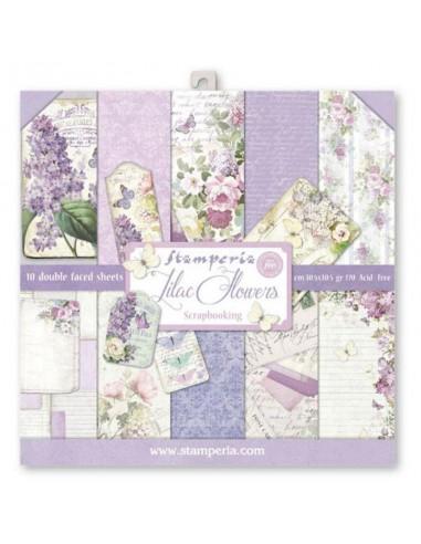 SET PAPELES 30x30 Lilac Flowers