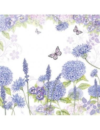 SERVILLETAS- Purple Wildflowers