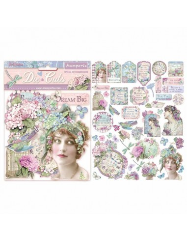 Die cuts assorted - Hortensia