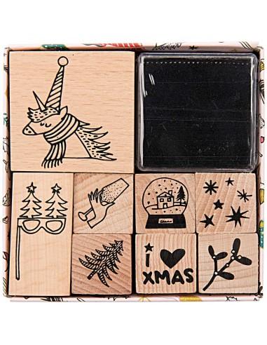 Juego de sellos de madera - Magical...