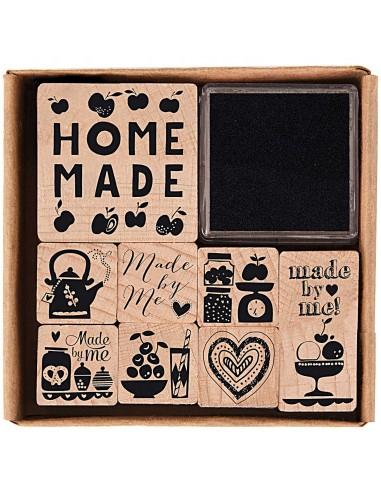 Juego de sellos de madera - Set Homemade
