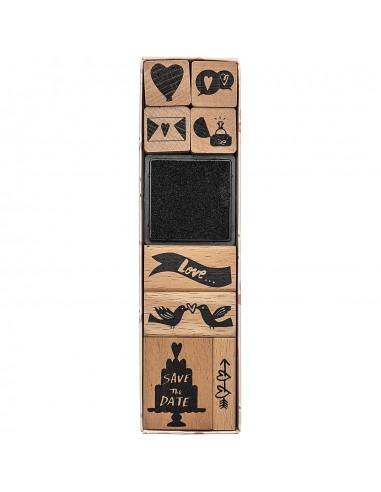 Juego de sellos de madera - Save the...