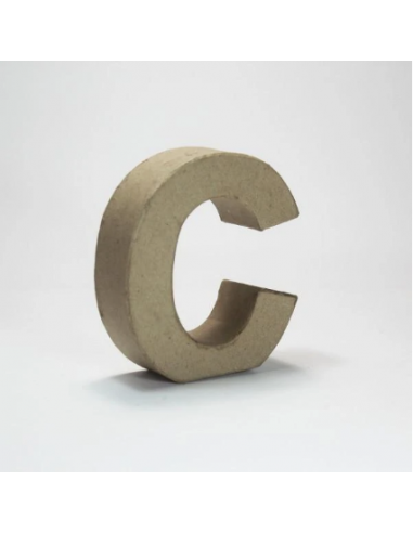 Letra de Cartón Craft Pequeña - C